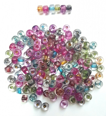 Handmade Lampwork Spacer, Tube, Mix color