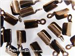 Cord Crimp-tip (with teeth and loop), Antique Bronze electroplated