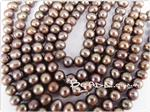 Natural Fresh Water Pearl Beads, Dusty Bronze, 5.5-7mm Potato shape